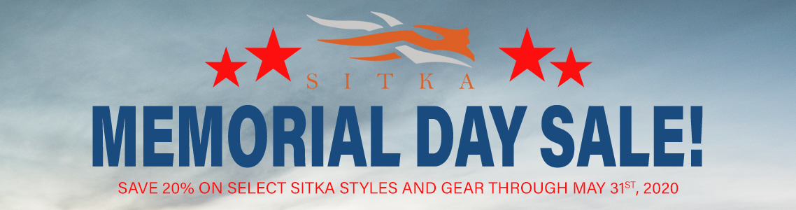 Sitka 2020 Memorial Day Sale!