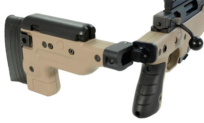 Accuracy International AT Rifle - Folding Pale Brown Stock - 308 Win 26 inch threaded bbl std brake - small firing pin