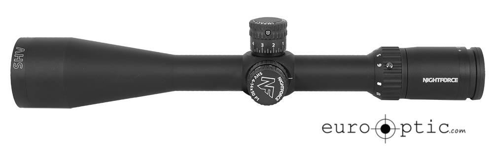 Nightforce SHV 4-14x50 F1 .25 MOA-illuminated MOAR reticle C556