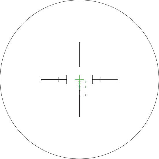Trijicon 3x24 Compact ACOG Illum Green Crosshair Ballistic 400225