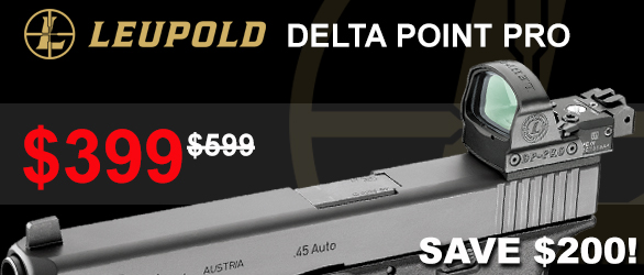Leupold DeltaPoint Pro 2.5 MOA $399 Save $200!