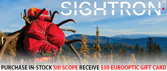 Purchase an In-stock Sight, Get a $50 EuroOptic Gift Card !