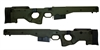 AICS Accuracy International Chassis System Long Action 2.0 Folding  Stock Green .338 Left Hand