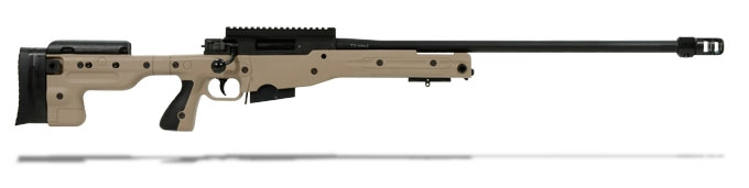 Accuracy International AT Rifle - Fixed Pale Brown Stock - 308 Win 26 inch threaded bbl std brake - AT-308WNFIPB26THSM