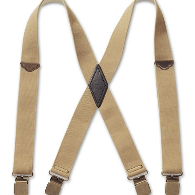 on feet shots of delicate colors strong packing Filson Regular Tan Clip Suspenders 30080