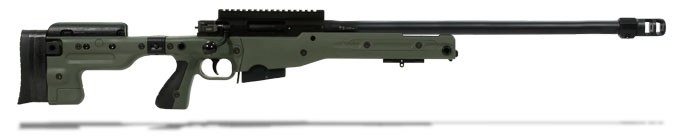 Accuracy International AT Rifle - Folding Green Stock - 308 Win 24 inch threaded bbl std brake - small firing pin