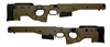 AICS Accuracy International Chassis System Long Action 2.0 Folding  Stock Dark Earth .338 Left Hand