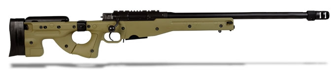 "Accuracy International AE MK III .308 Win 24"" Plain bbl Standard Brake Dark Earth Folding Stock"