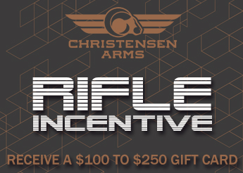Christensen Arms Rifle Incentive - $100 to $250 EuroOptic Gift Card