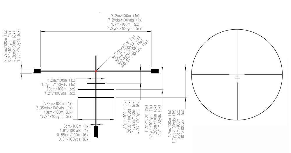 Kahles K 1-6x24 Illum. G4B Riflescope 10518