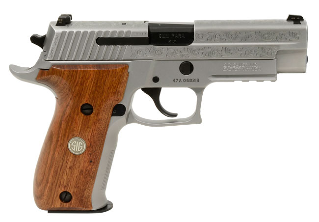 Sig P226 Stainless Engraved 9mm Pistol E26R-9-SSS-ESM