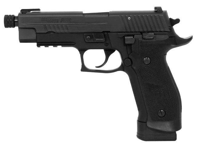Sig Sauer P226 TACOPS, Black Nitron, Beavertail, SRT, TFO / SIGLITE Night Sight Combo, Magwell Grips