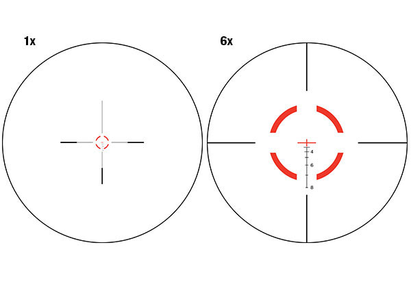 Trijicon VCOG 1-6x24 Circle/Crosshair Riflescope VC16-C-1600004