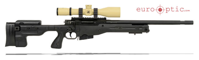 AI AT .308 Win Black Rifle With Schmidt Bender 3-12x50 Scope