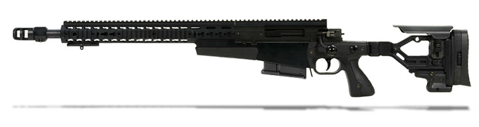 Accuracy International AXMC 300 Black chassis 20 inch barrel std brake - Left Hand A-XM300WMBL20SM-LH