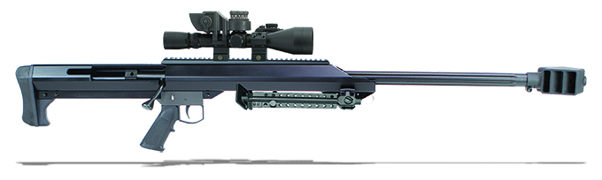 "Barrett M99 50 BMG Black 29"" Leupold Mark 4 M1 & Rings 13144"