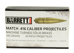 Barrett .416 Bullets Turned Brass VLD 41613