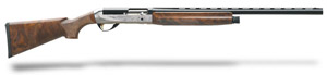 "Benelli Legacy AA-Grade satin walnut, Nickel/blue, Etched game scene 28"" 12ga 10400"