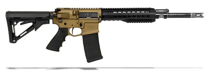 "Christensen Arms Carbon Fiber-Wrapped 223 Wylde 16"" 1/8, Mid Piston, Keymod Handguard, Burnt Bronze, CTR Magpul Stock, Ti Flash Hider CA10153-1235254 CA10153-1235254"