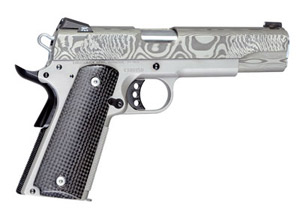Christensen Arms Government Lite 5in-Classic 45ACP Titanium Frame-Damascus Slide-Carbon Grip
