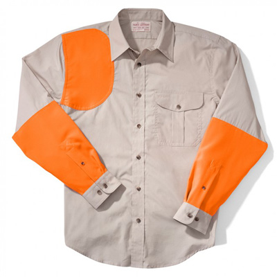 Filson Lightweight Shooting Shirt RH Tan Blaze Orange XL 10661