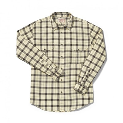 Filson Cream/Deep Brown Lightweight Alaskan Guide Shirt 10743