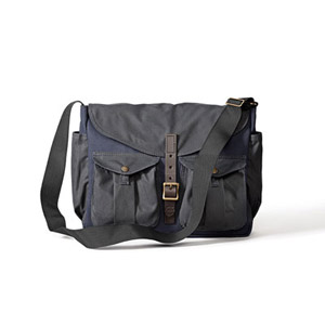 Filson Game Bag Messenger Navy/Orange 70077863135