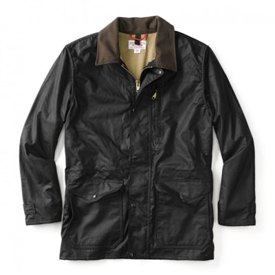 Filson Cover Cloth Mile Marker Coat Black SM 10409