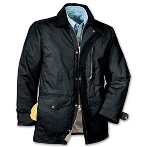 Filson SM Black Cover Cloth Weekender Coat 10023