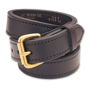 "Filson 28 Brown/Brass 1.25"" Double Belt 63205200204"