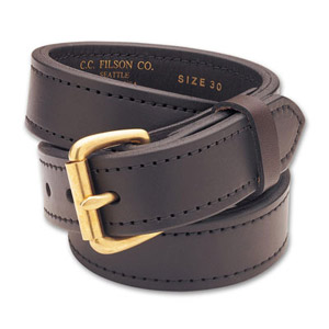 "Filson 28 Brown/Brass 1.5"" Double Belt 63215200204"