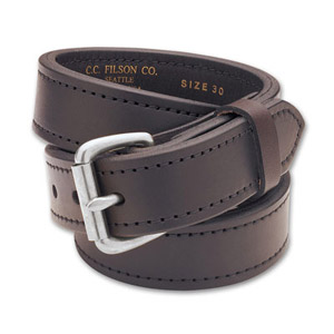 "Filson 28 Brown/Stainless 1.25"" Double Belt 63205198204"