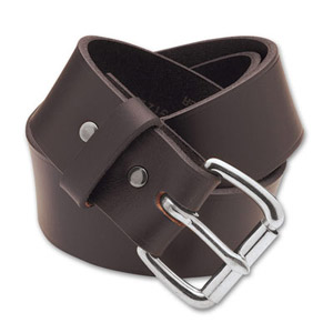 "Filson 28 Brown/Stainless 1.5"" Leather Belt 63202198204"