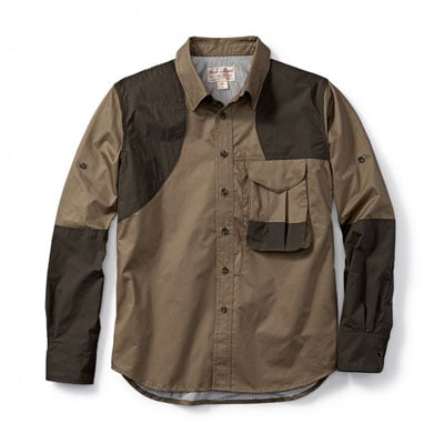 Filson Front Loading Shooting Shirt RH Tan w/ Olive SM 10525