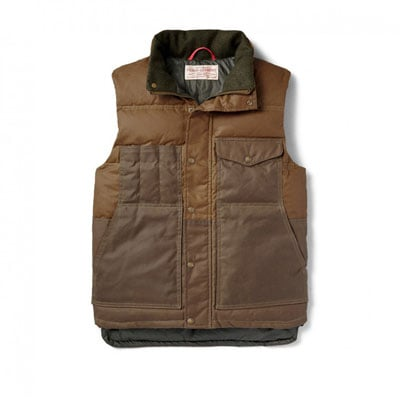 Filson Down Cruiser Vest Dark Tan 10641