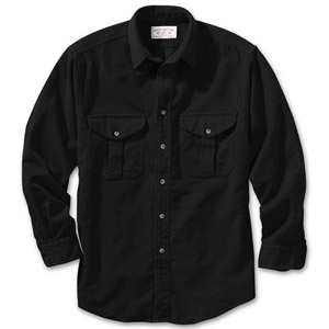 Filson Mens Black Moleskin Shirt 10394-BL