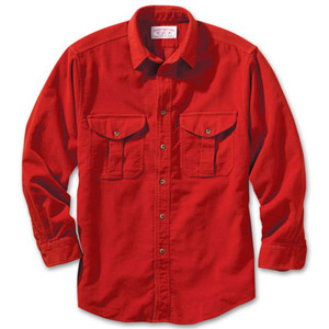 Filson Mens Burnt Orange Moleskin Shirt 10394-OE