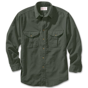 Filson Mens SM Dark Green Moleskin Shirt 10394-DG