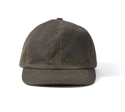 Filson Tin Cloth Cap Otter Green 60068341102