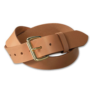 "Filson 28 Tan/Brass 1.5"" Leather Belt 63202242204"