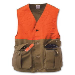 Filson SM Tan/Orange Upland Hunting Vest 16025