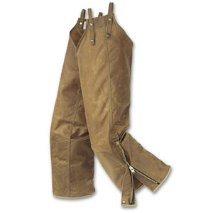 Filson RG Tan Double Tin Zipper Leg Chaps 14023