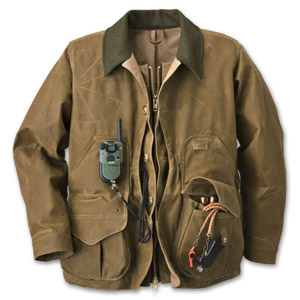 Filson SM Tan Tin Cloth Zipper Field Coat 10088