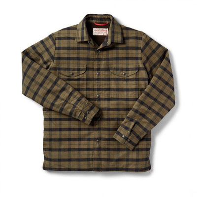 Filson Insulated Alaskan Guide Jac Shirt Otter Green Black 2XL 10656