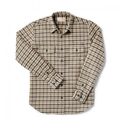 Filson Vintage Flannel Work Shirt Cream/Black/Brown Tartan 10689