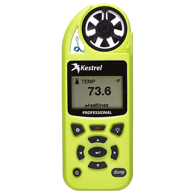 Kestrel 5200 Pro Environmental Meter High Viz Green 0852HVG