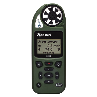 Kestrel 5500 Weather Meter w/ LiNK & Vane Mount Olive Drab 0855LVOLV