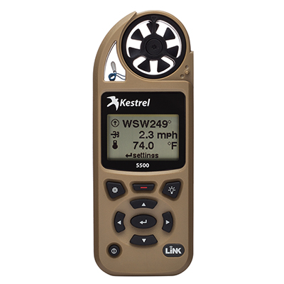 Kestrel 5500 Weather Meter w/ LiNK & Vane Mount Desert Tan 0855LVTAN