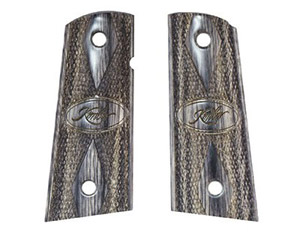 Kimber Tactical Black/Silver Laminate Compact Grips 1100020A