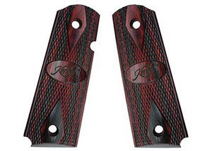 Kimber Ruby/Charcoal laminate Full-Size Grips 1100211A